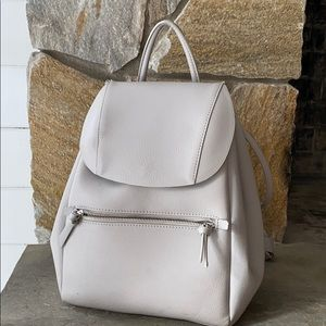 Zara Grey Vegan Leather Backpack